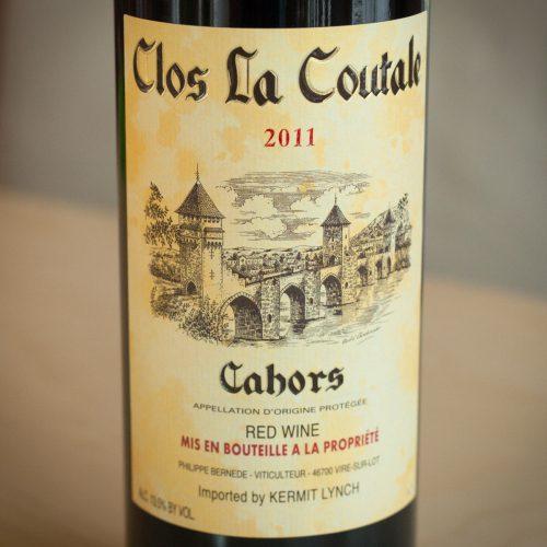 Clos La Coutale, Cahors Malbec label