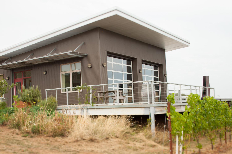 The tasting room at Raptor Ridge WInery, Chehalem Mountains AVA, Oregon