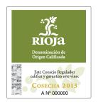 Rioja Cosecha DOC tag label