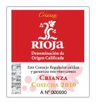 Rioja Crianza DOC tag label
