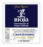Rioja Gran Reserva DOC tag label