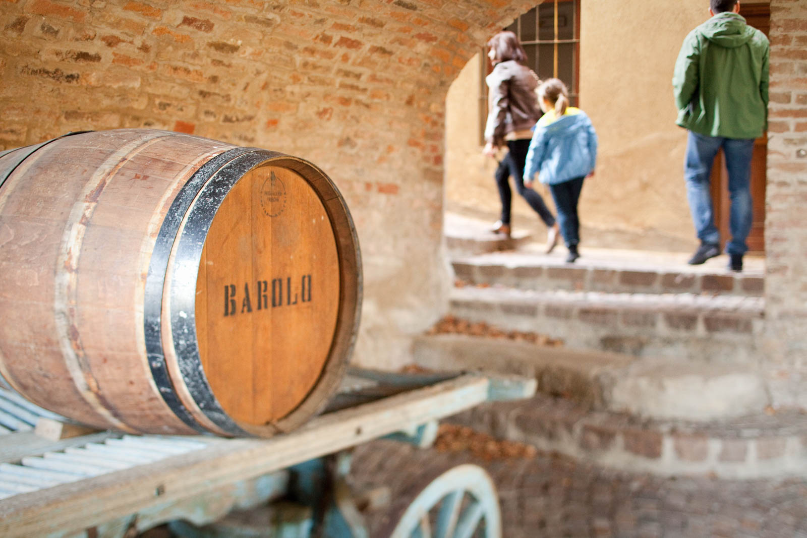 Barrel in Barolo, Italy. ©Kevin Day