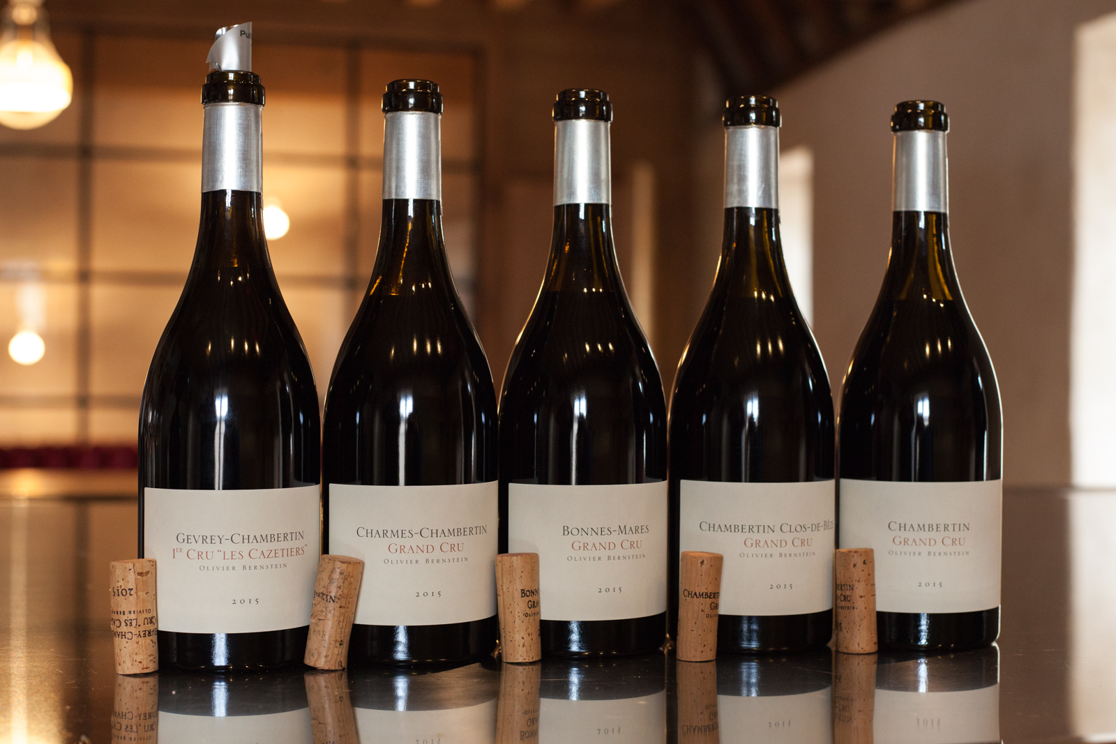 A fleet of wines from Oliver Bernstein. ©Kevin Day / Opening a Bottle