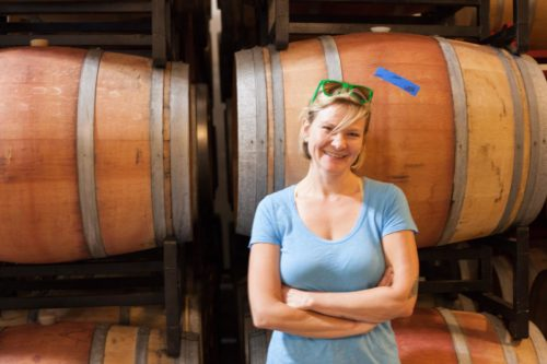 Winemaker Brianne Day at her winery in Dundee, Oregon. ©Kevin Day / Opening a Bottle