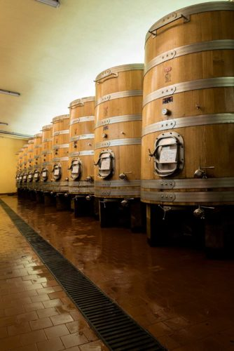 ARPEPE ages their wines the traditional way, in large casks instead of small barrels. ©ARPEPE