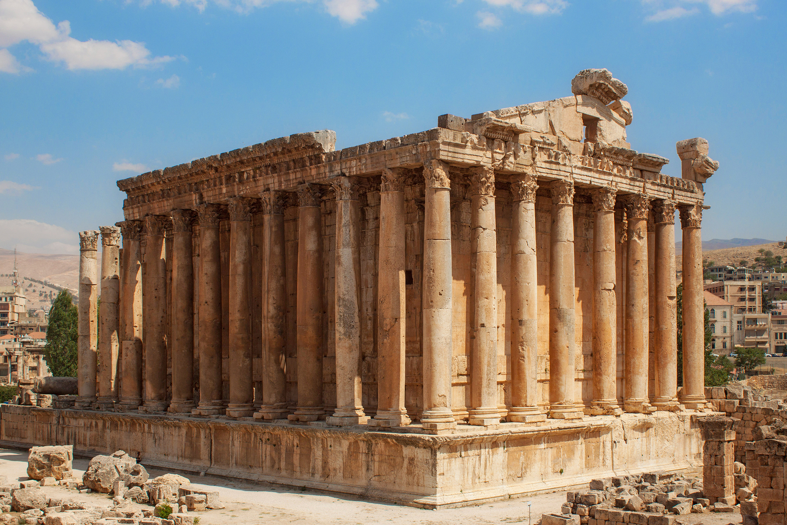 Lebanon's impressive Temple of Bacchus, built by Antoninus in the 2nd century AD, is one of the most significant Roman archaeological sites in the Middle East.