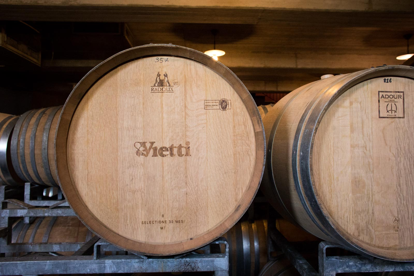New barrique barrels are used for Barbera, then over time, as the oak tones down, they are used sparingly for Nebbiolo. ©Kevin Day/Opening a Bottle