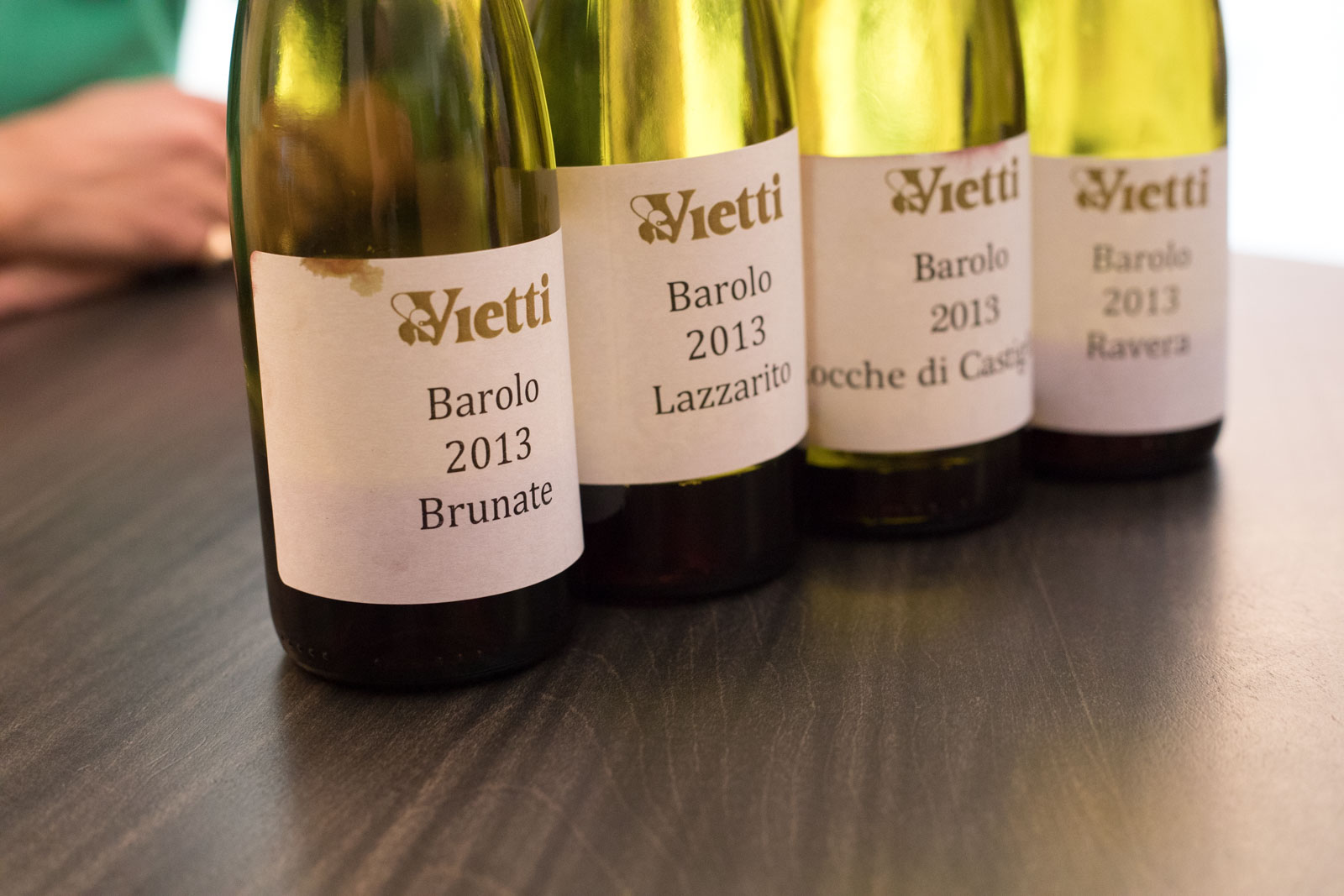 Tastings of Luca Curraddo's single-vineyard bottlings of Barolo. Kevin Day/Opening a Bottle