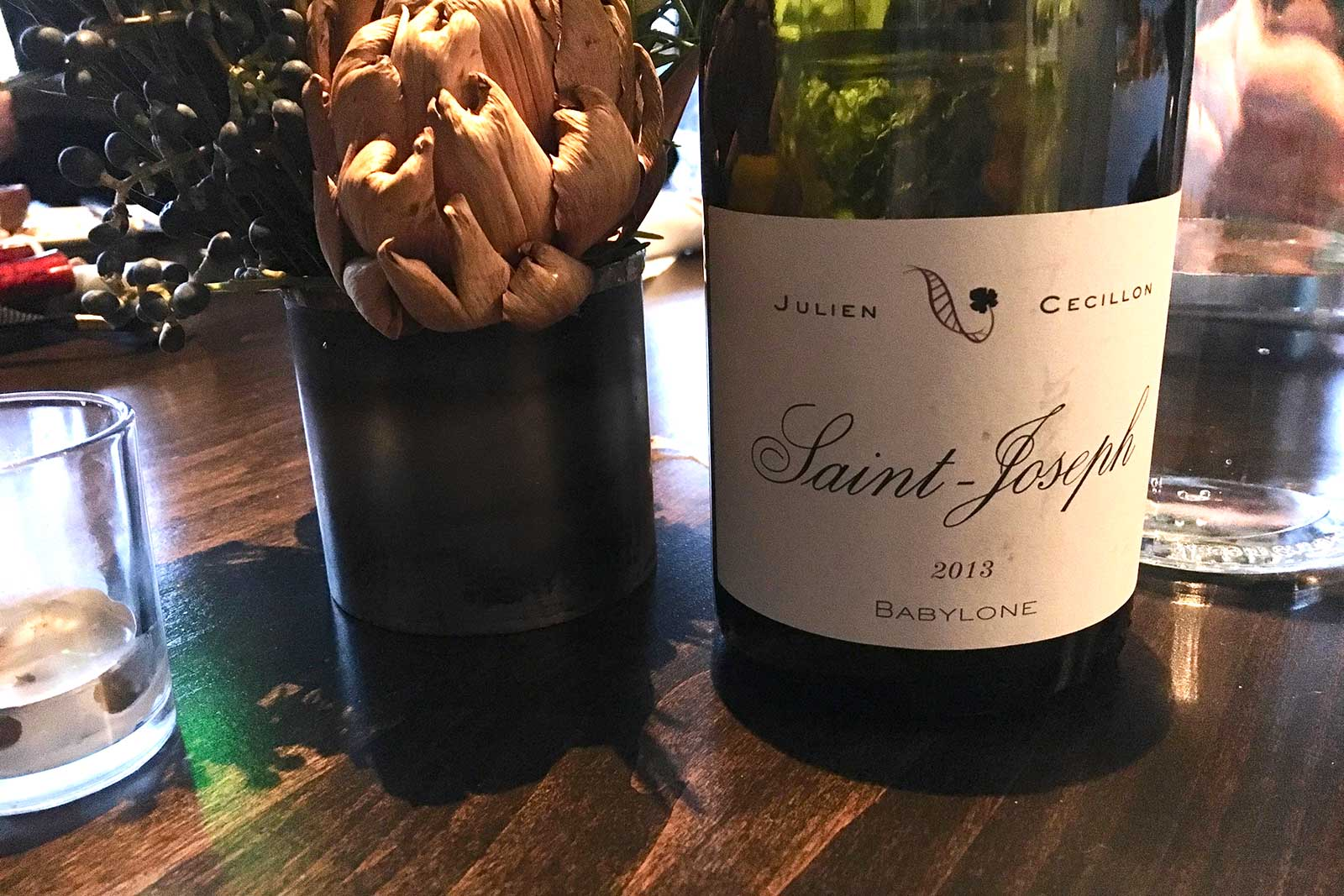 2013 Julien Cecillon Saint-Joseph ©Kevin Day/Opening a Bottle