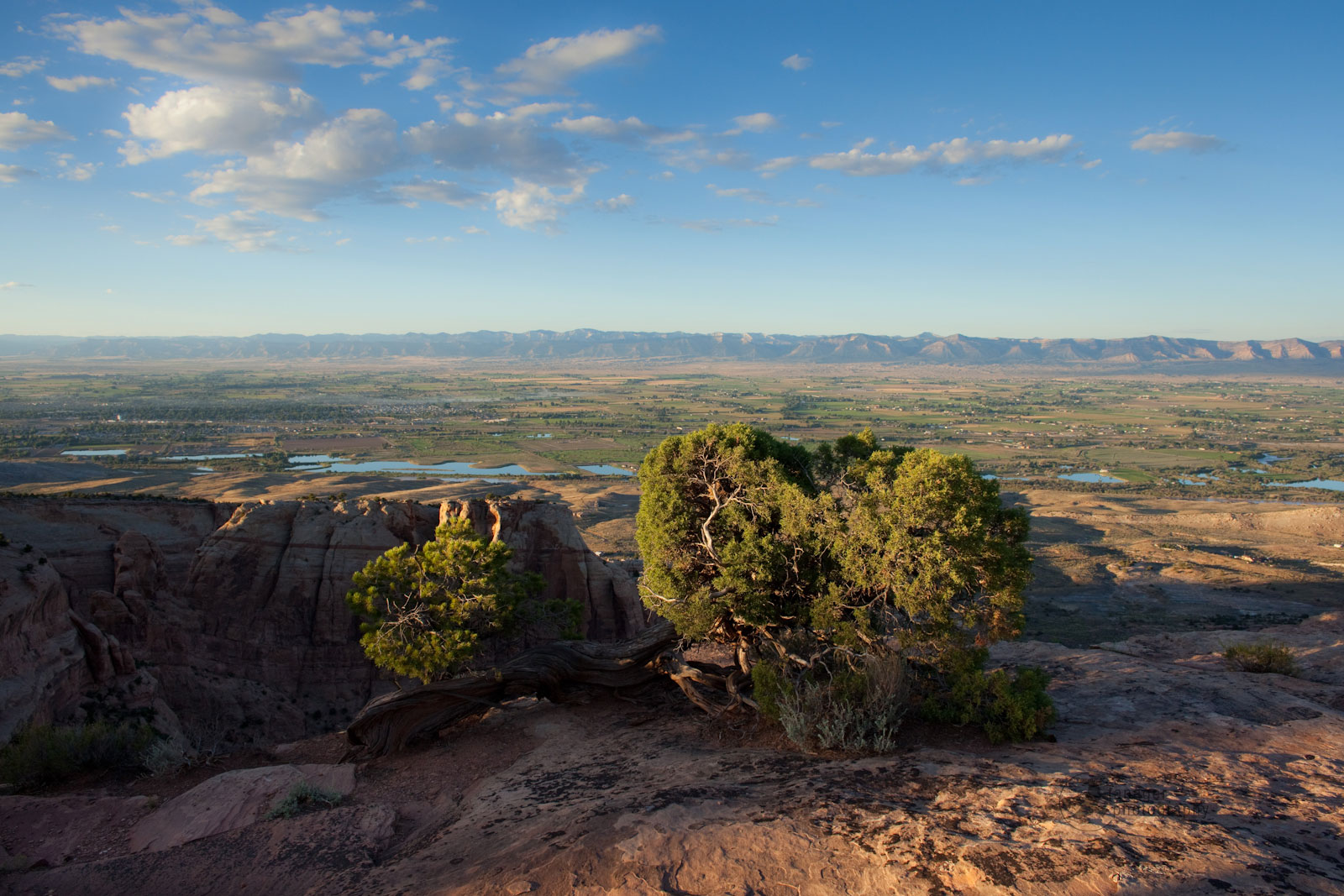 Grand Valley, Colorado from Colorado National Monument