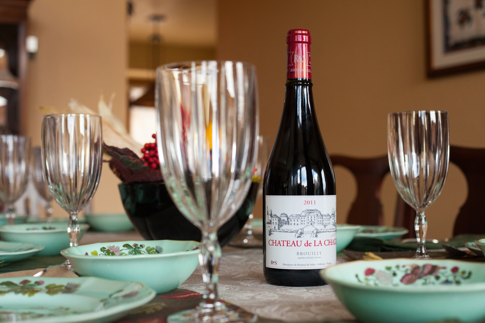 Chateau de La Chaize Brouilly red wine