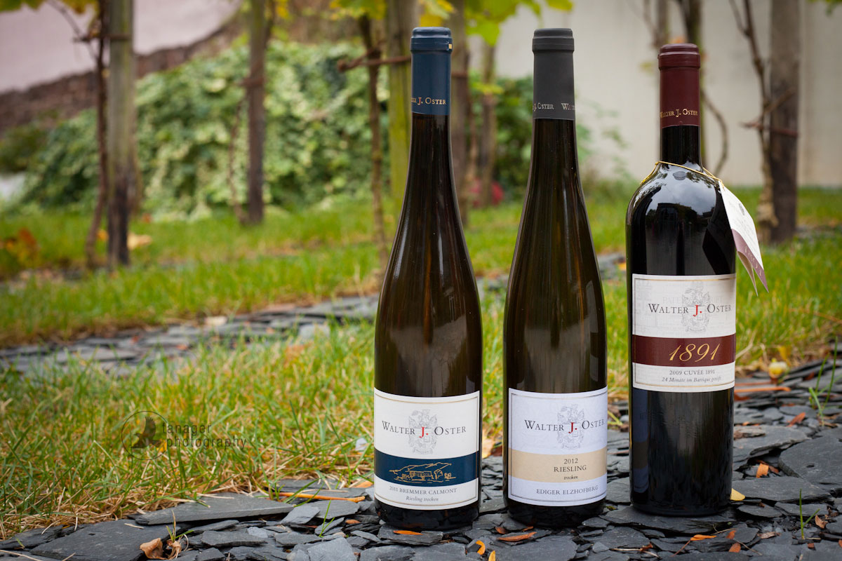 Walter J. Oster wines: Riesling and Spätburgunder