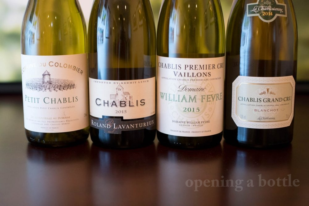 Bottles of Chablis. ©Kevin Day/Opening a Bottle