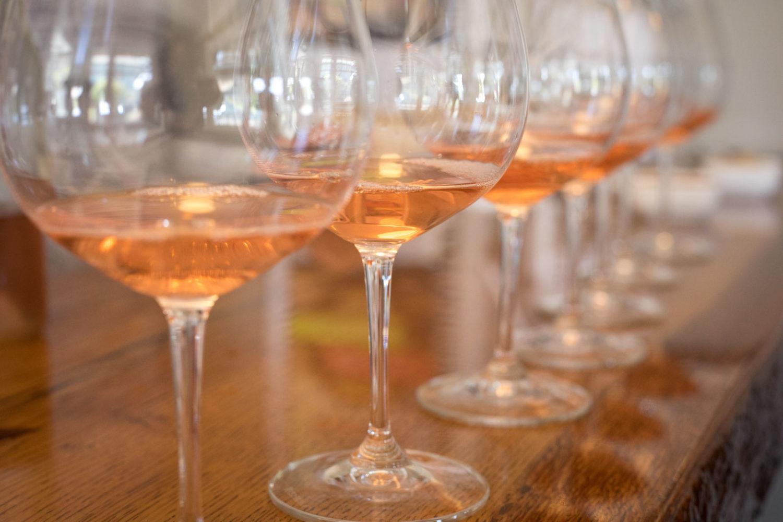 Wine tasting orange wines in San Luis Obispo, California.