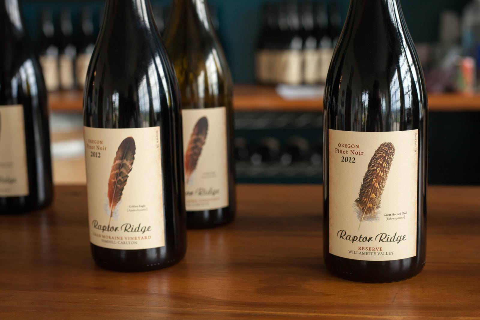 Raptor Ridge winery, wine tasting room