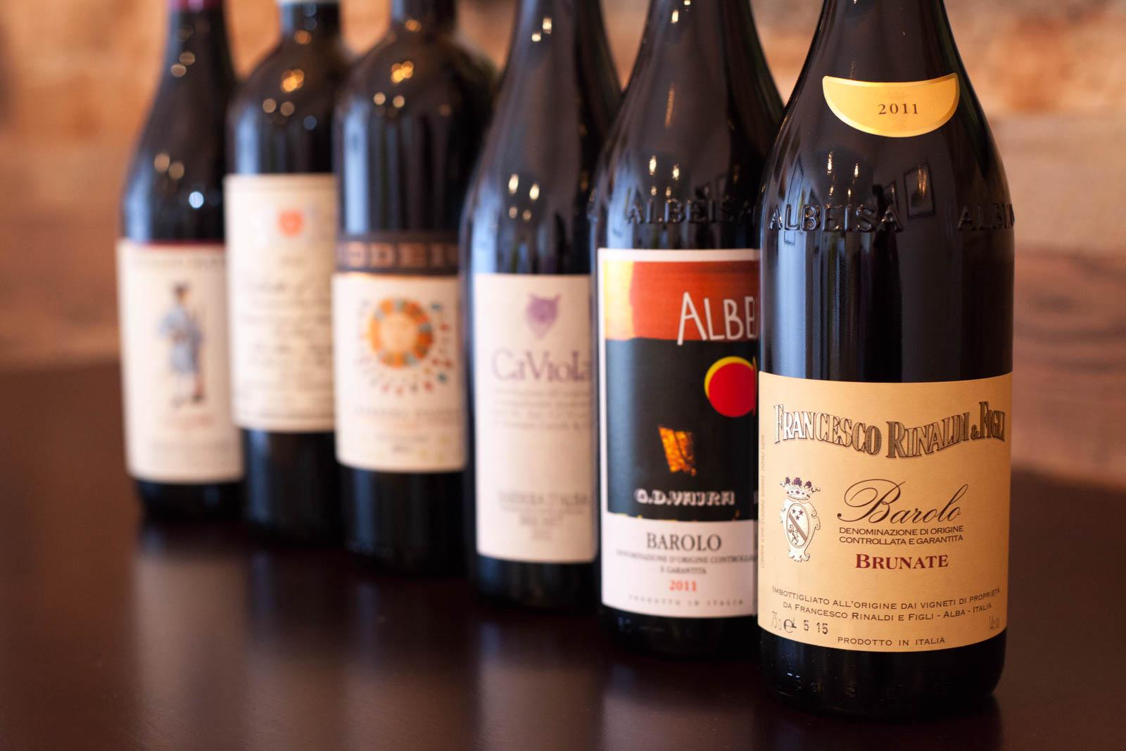 Piedmont wines, Barolo (Nebbiolo), Barbera, Dolcetto