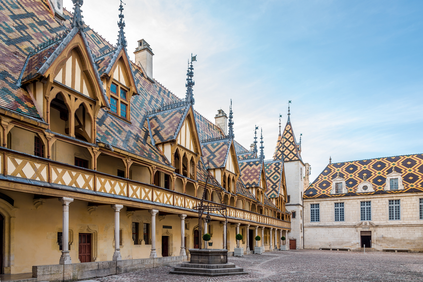 Courtyard of Hospices de Beaune - France