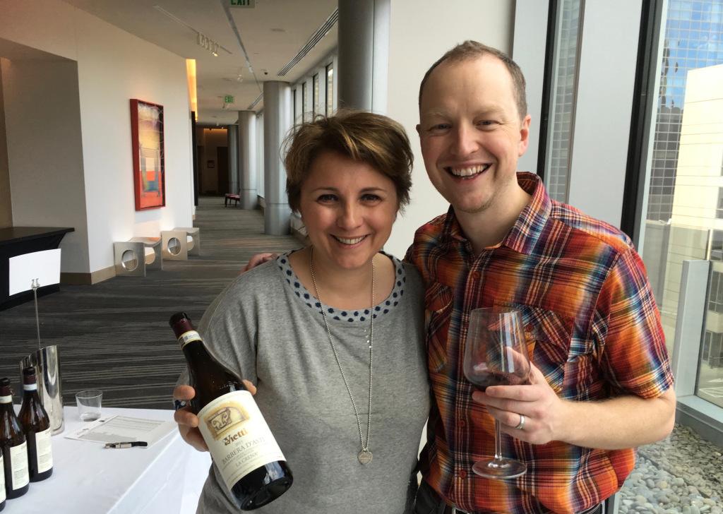 Elena Currado and wine writer Kevin Day