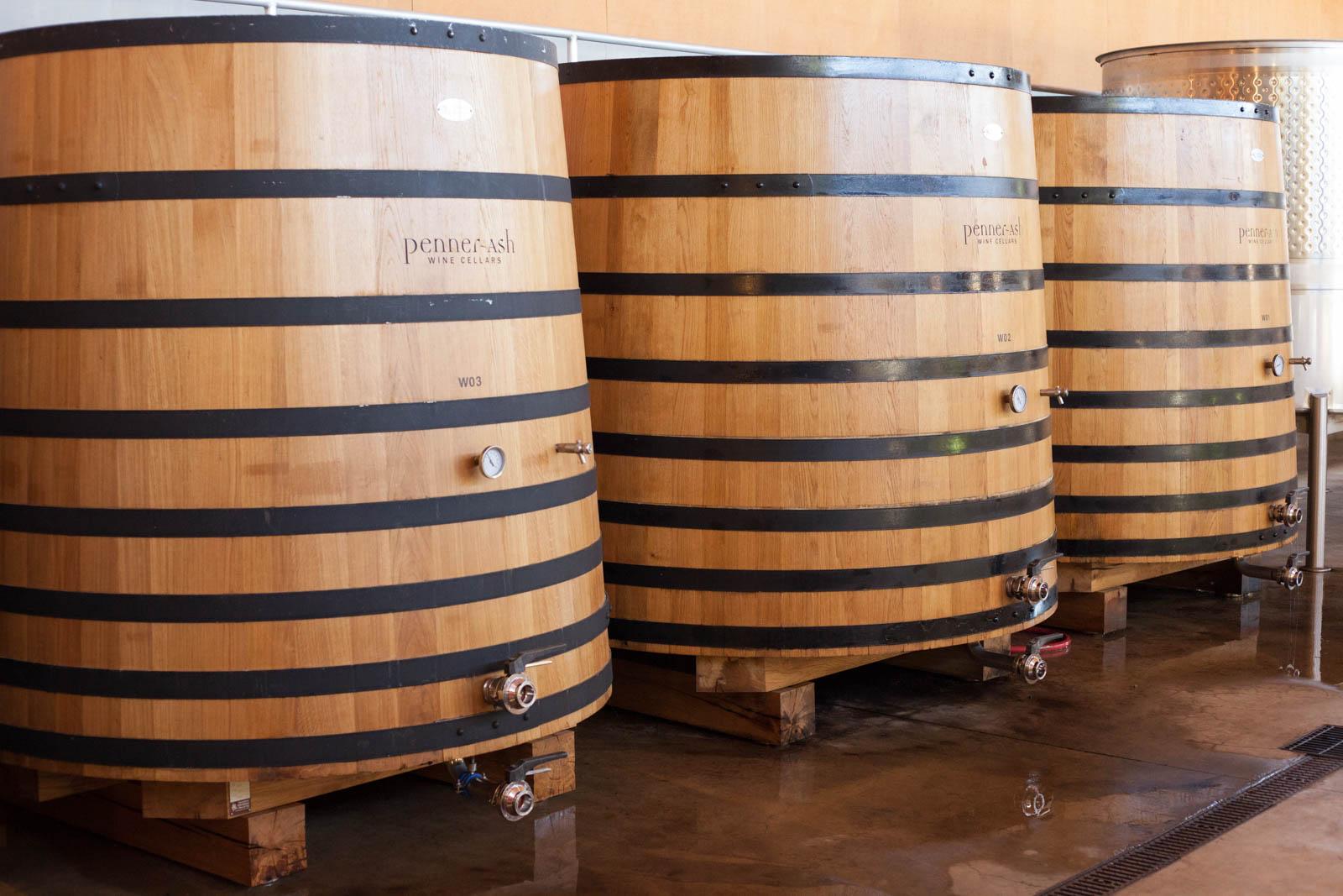Penner-Ash Wine Cellars, Winery, oak casks, oak tanks, Oregon