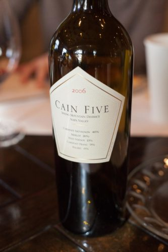 2006 Cain Five wine bottle, ©Kevin Day / Opening a Bottle