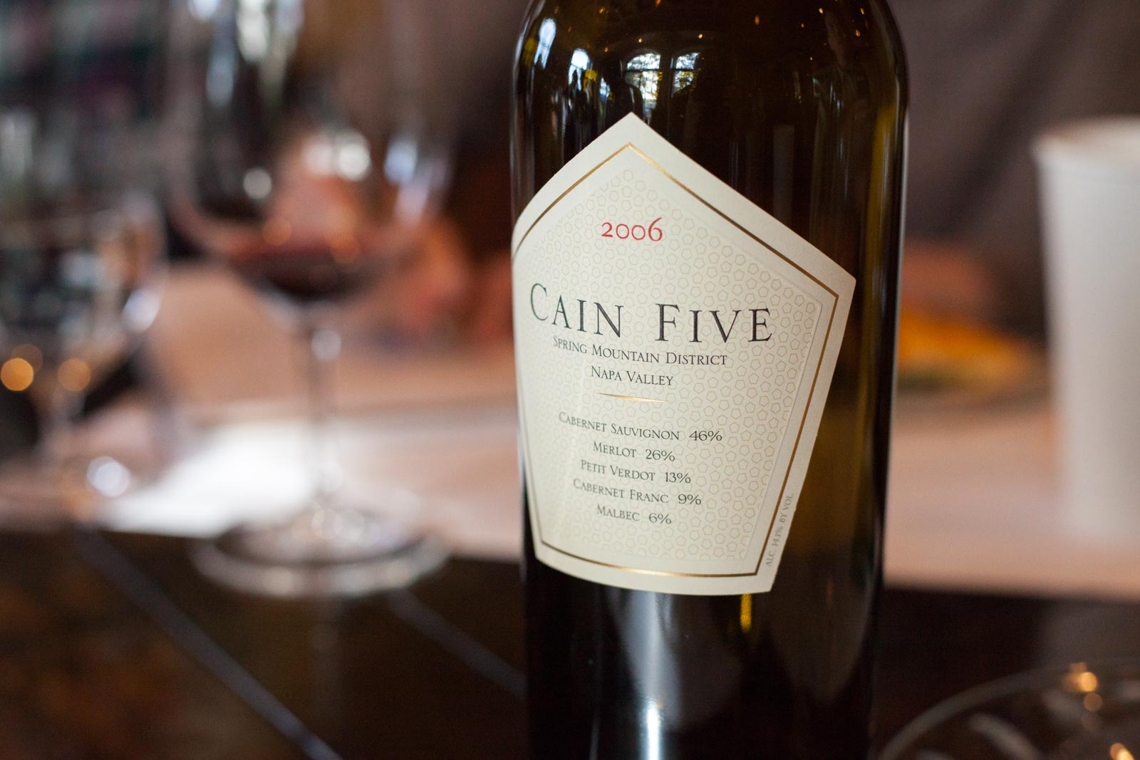Cain Five wine ©Kevin Day/Opening a Bottle