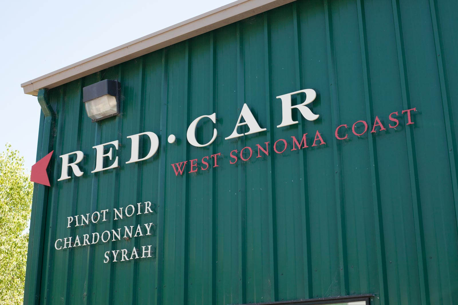 The entrance to the Red Car Wines tasting room. ©Kevin Day / Opening a Bottle