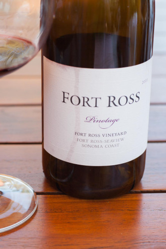 A bottle of 2011 Fort Ross Vineyard Pinotage. ©Kevin Day/Opening a Bottle