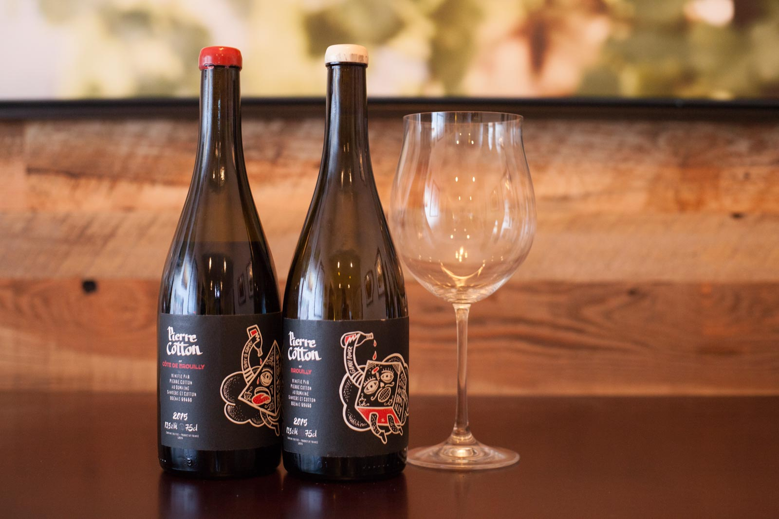 The wines of Pierre Cotton – Brouilly and Côte de Brouilly from Beaujolais. Thanksgiving wine.