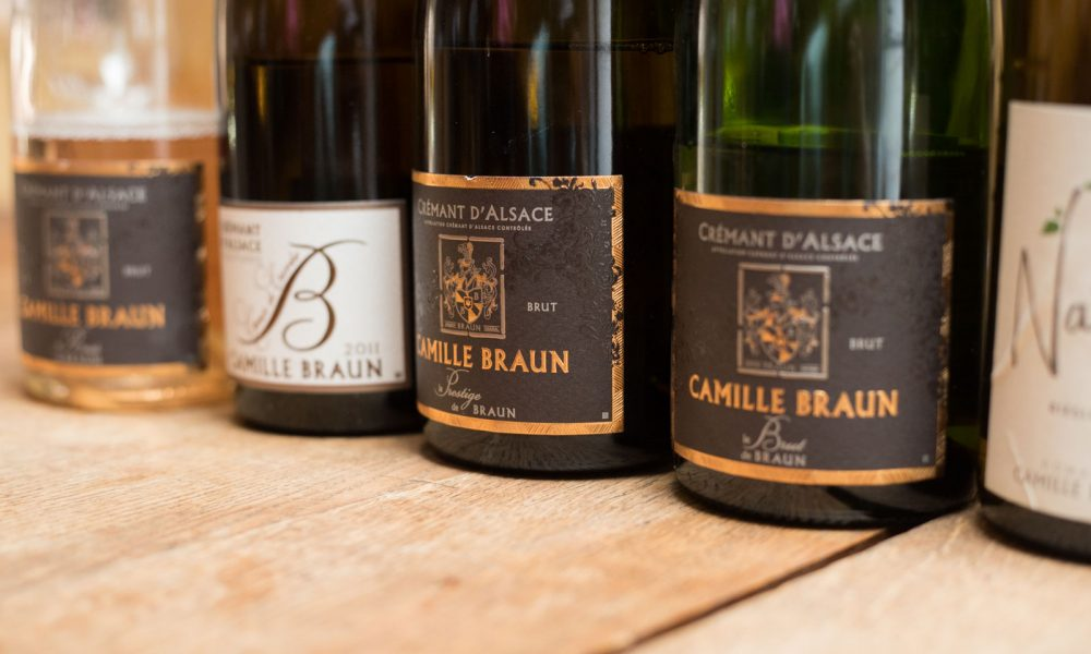 Cremant d'Alsace wines of Camille Braun. ©Kevin Day/Opening a Bottle