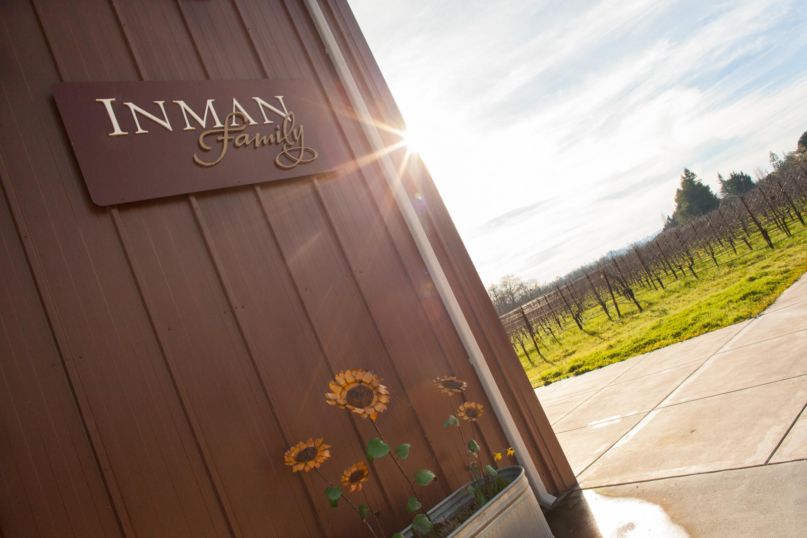 The entrance to Inman Family Wines. ©Kevin Day/Opening a Bottle