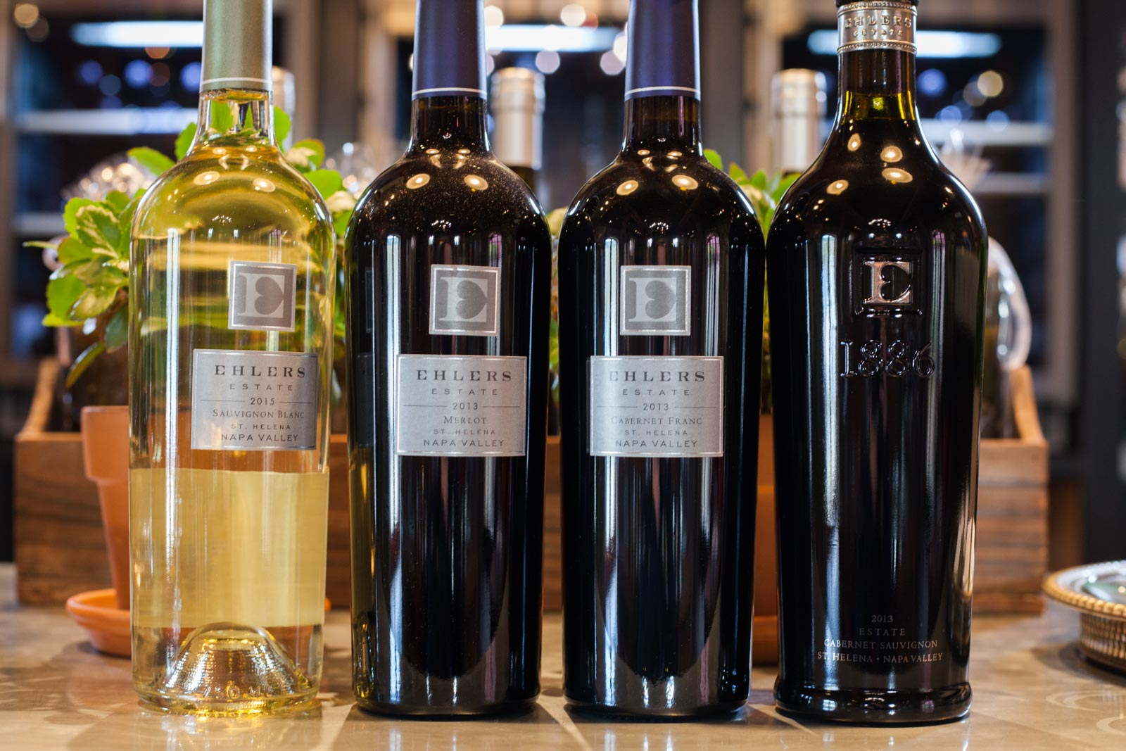 The wines of Ehlers Estate in Napa Valley. ©Kevin Day/Opening a Bottle