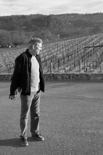 Winemaker Kevin Morrisey surveys the vineyards at Ehlers Estate. ©Kevin Day/Opening a Bottle