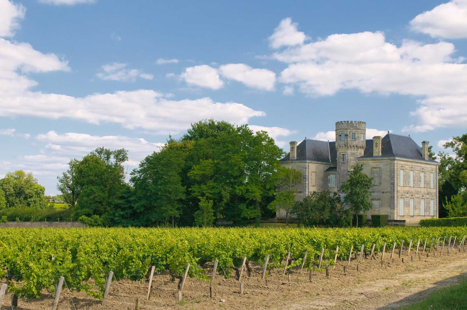 The seeds of the New World outlook on wine can be seen in Bordeaux's estates, such as this one in Margaux