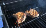 Pork chops on the grill ©Kevin Day / Opening a Bottle
