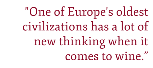 "Pullquote ""One of Europe's oldest civilizations has a lot of new thinking when it comes to wine."""