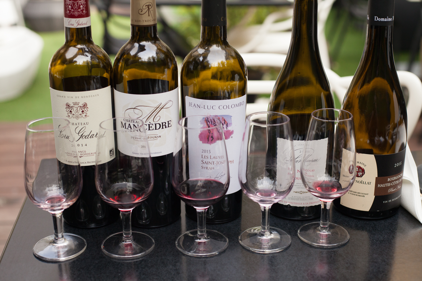 The after-effects of a blind wine tasting at Le Boutique Hotel. ©Kevin Day / Opening a Bottle