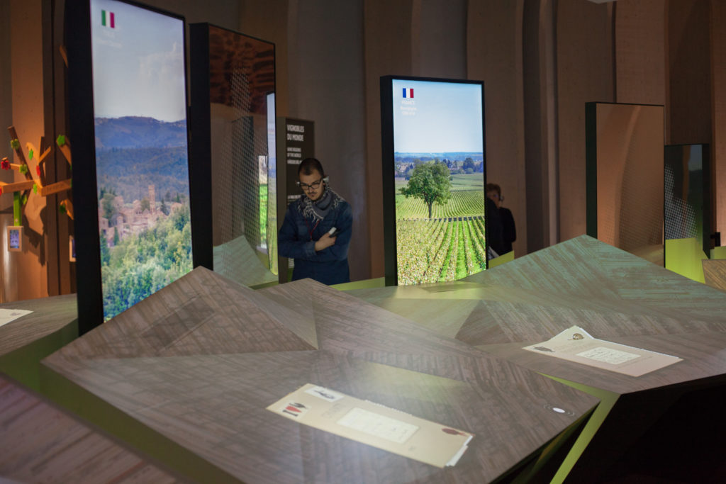 An interactive exhibit at Le Cité du Vin in Bordeaux explains terroir. ©Kevin Day / Opening a Bottle