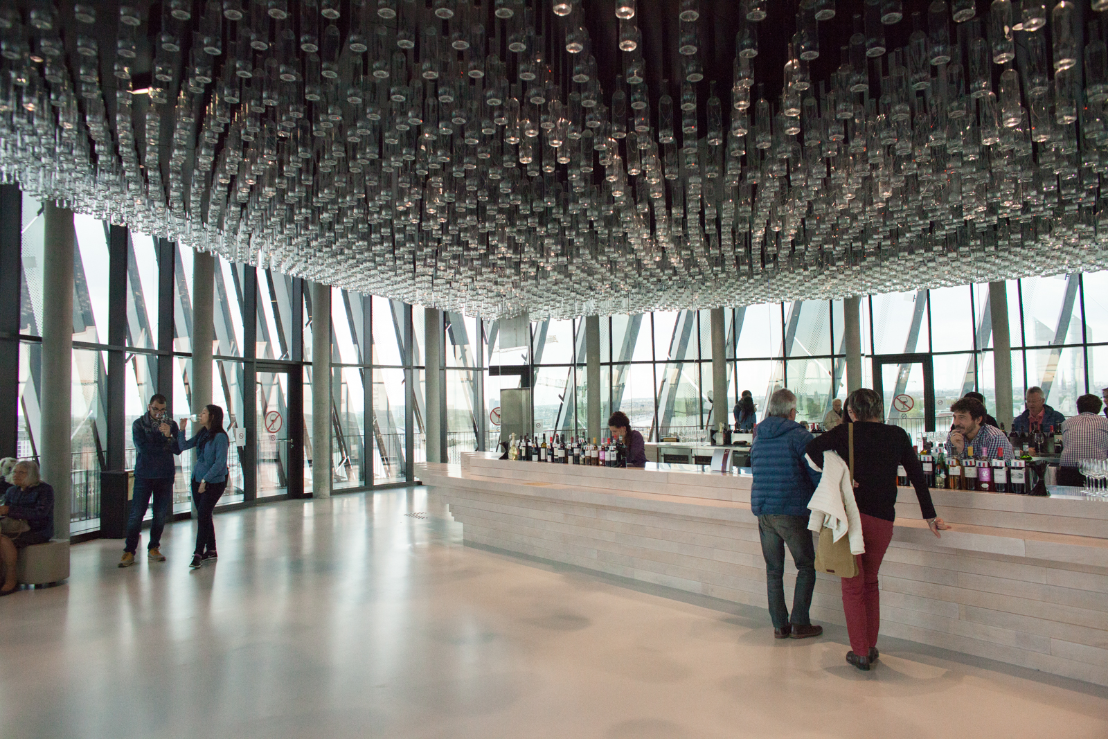 The top floor of La Cité du Vin, where you can toast the Bordeaux skyline. ©Kevin Day / Opening a Bottle