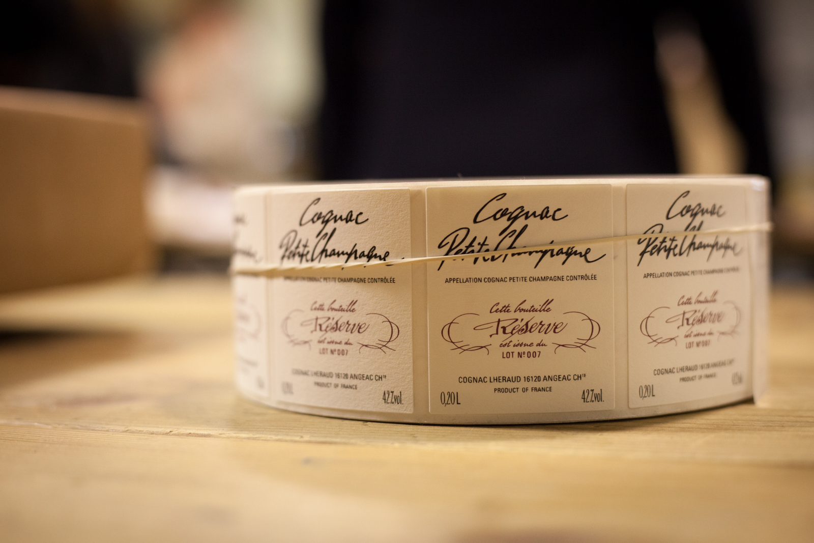 Labels for Cognac Petit Champagne at Cognac Lhéraud. ©Kevin Day/Opening a Bottle