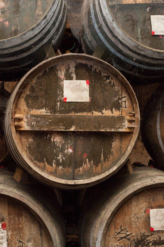 Barrels aging Cognac at Cognac Lhéraud. ©Kevin Day/Opening a Bottle