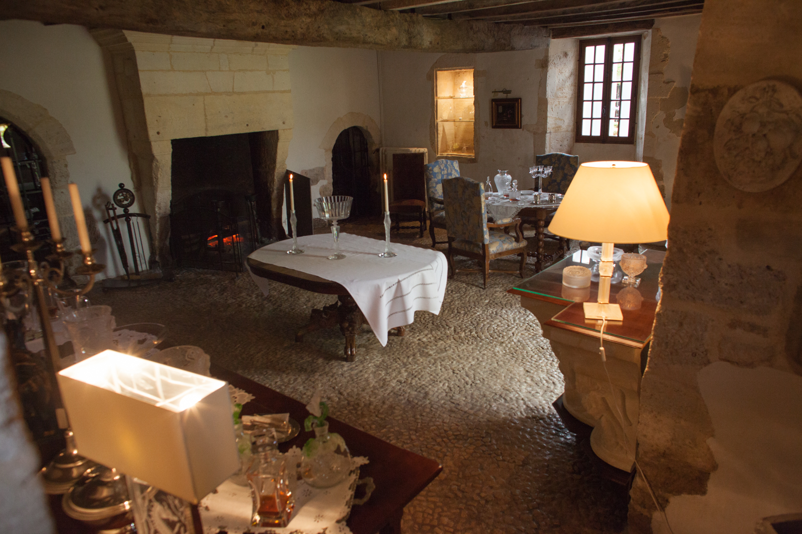 The small parlor room just off the cellar at Cognac Lhéraud. ©Kevin Day/Opening a Bottle