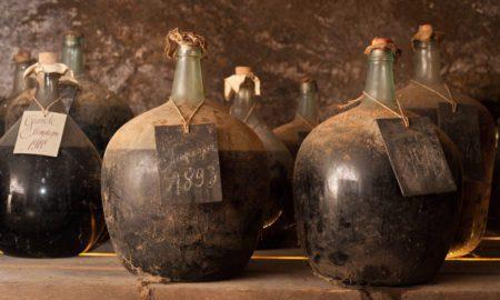 The demijohn of 1893 Cognac Lheraurd. ©Kevin Day/Opening a Bottle