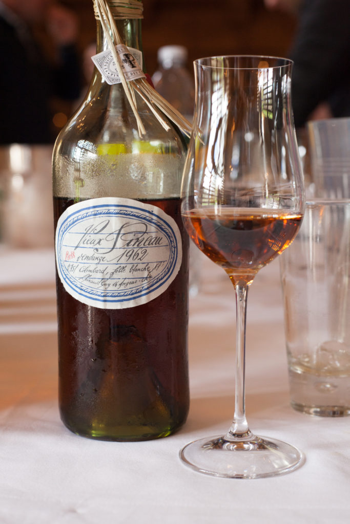 A bottle of 1962 Pineau des Charentes from Cognac Lhéraud. ©Kevin Day/Opening a Bottle