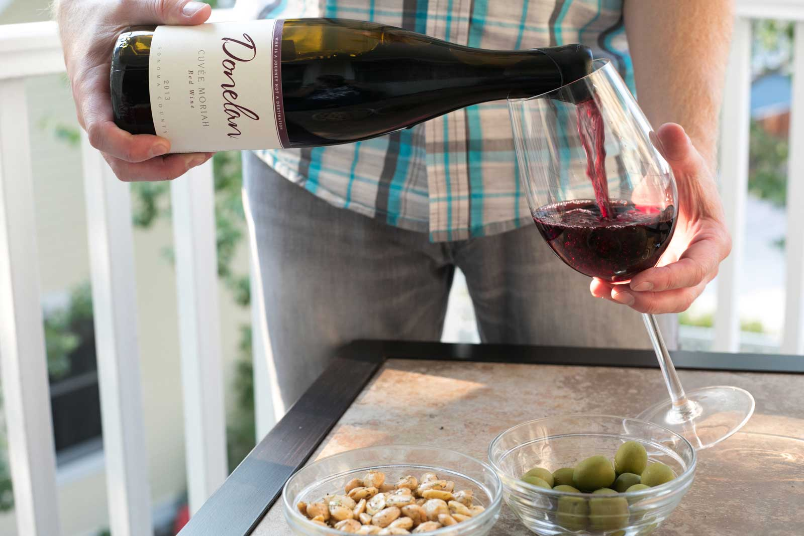 Pouring 2013 Donelan Wines Cuvée Moriah ©Kevin Day/Opening a Bottle