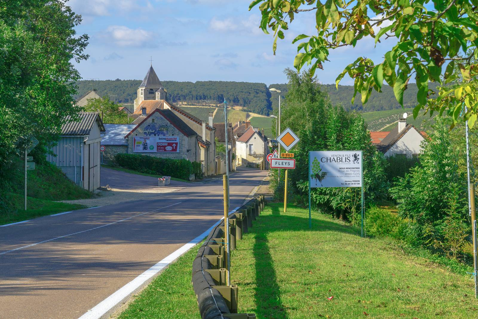 The village Fleys in Chablis, where Charly Nicolle's winery is located.