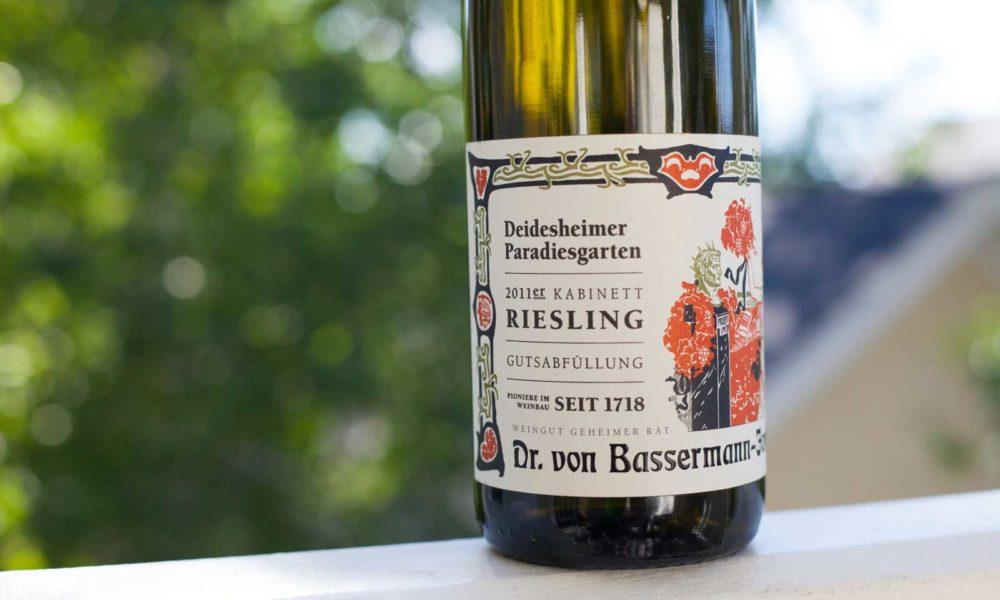 """2011 Dr. Von-Bassermann-Jordan """"Deidesheimer Paradiesgarten"""" Kabinett Riesling"""