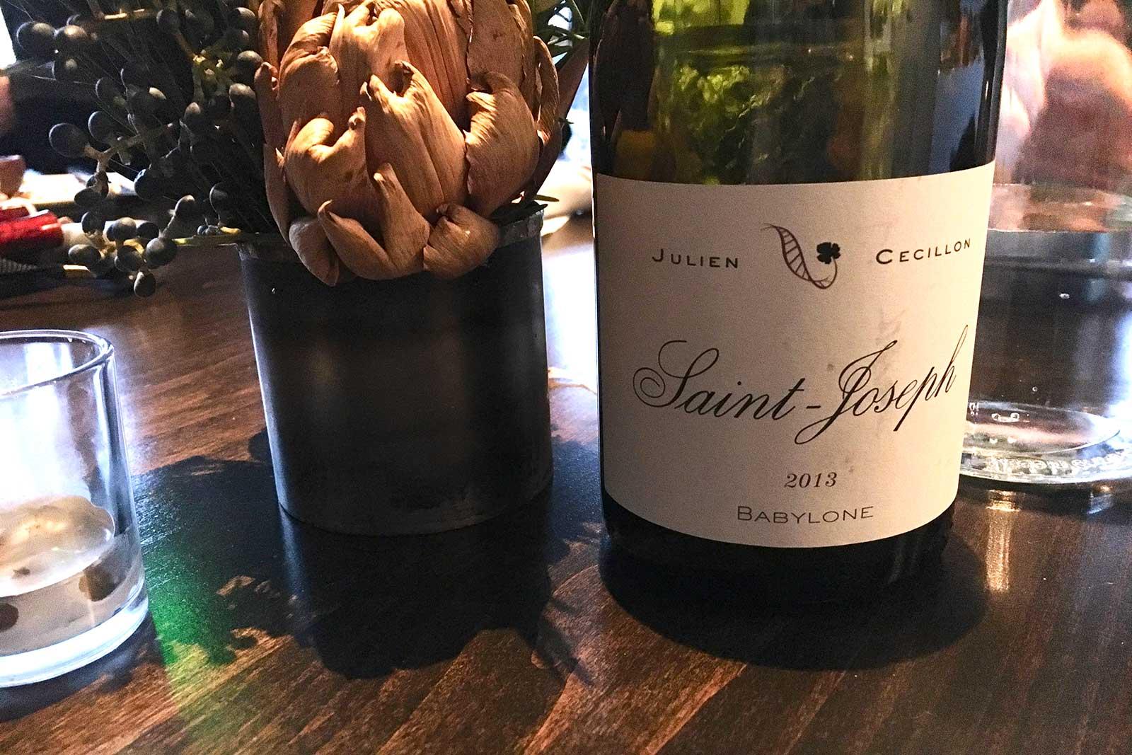 2013 Julien Cecillon Saint-Joseph ©Kevin Day/Opening a Bottle