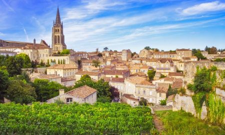 The town of Saint-Émilion in the Bordeaux wine region, an UNESCO World Heritage site.