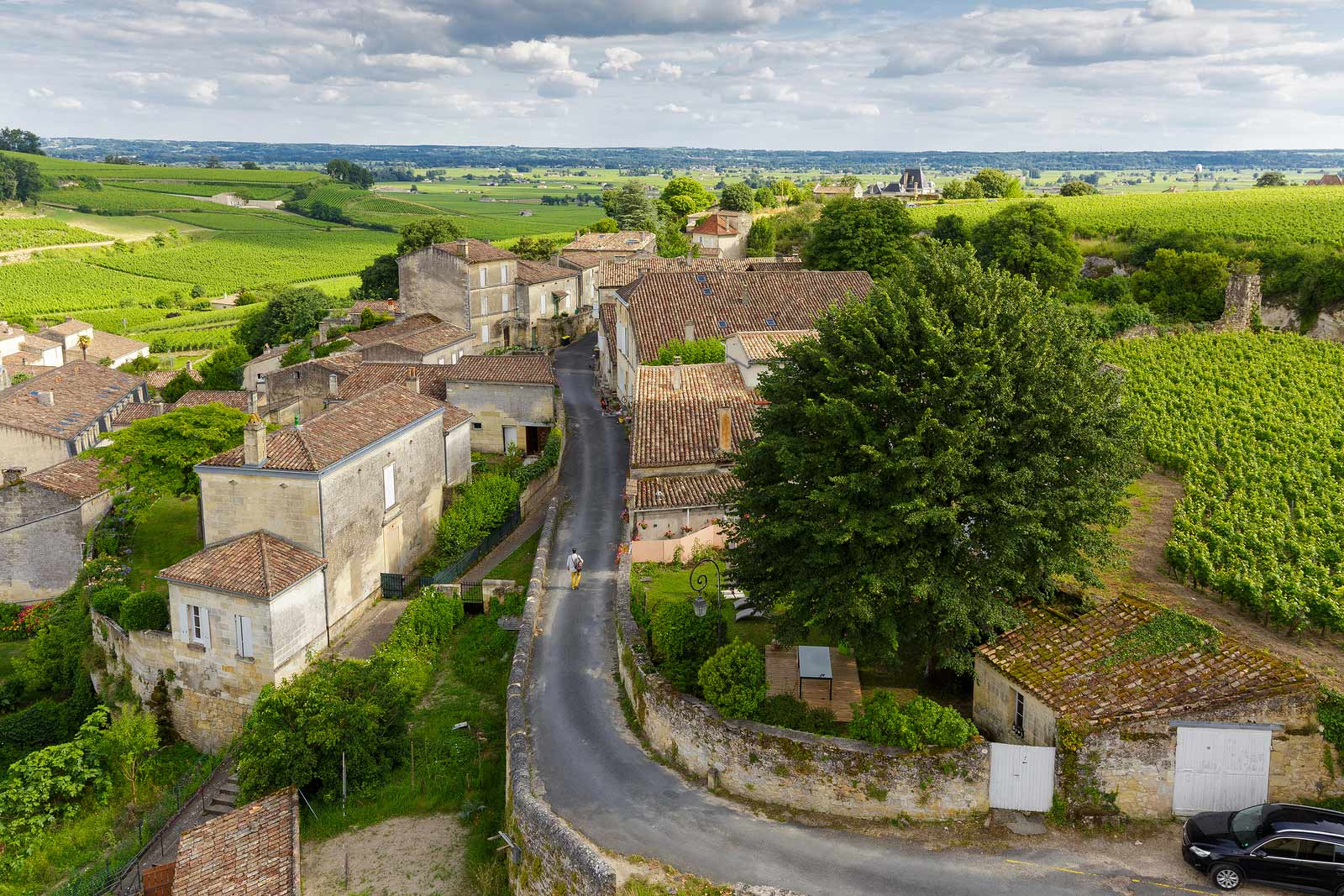 The countryside surrounding Saint-Émilion