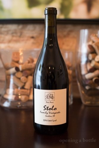2014 Stolo Family Winery Estate Syrah ©Kevin Day/Opening a Bottle